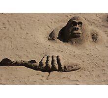 sand gorilla Photographic Print