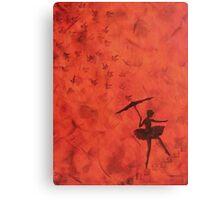 stencil ballerina Canvas Print