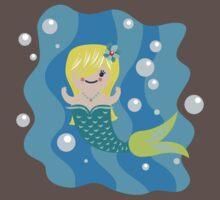 cute mermaid One Piece - Short Sleeve