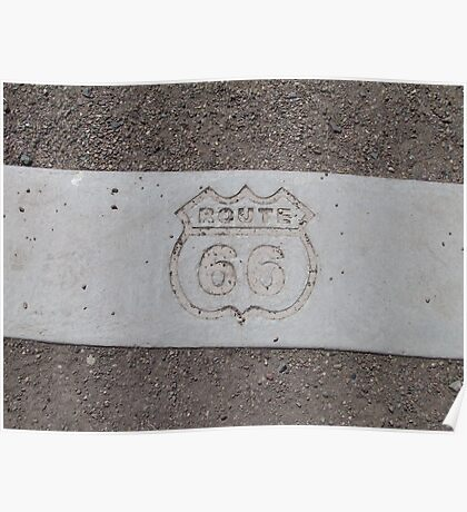 Route 66 Engraved Poster