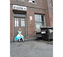 Alice and the Bookstore Photographic Print