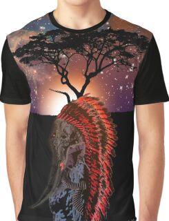 African Elephant Preistess Graphic T-Shirt