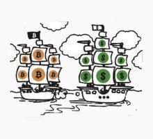 Bitcoin vs Money Pirate Ship Fight by NibiruHybrid