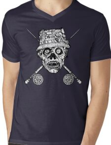 Fishing Zombie Mens V-Neck T-Shirt