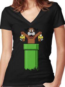 Flapp Hunt Women's Fitted V-Neck T-Shirt
