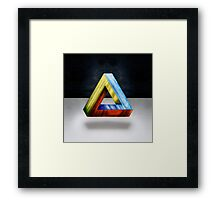 Penrose Triangle RGB Framed Print