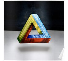 Penrose Triangle RGB Poster