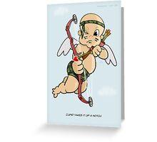 Cupid Upgrade Greeting Card