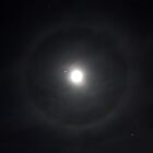 Lunar Halo with Stars by Daniel Owens