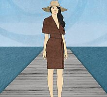 Woman on Dock by Janet Carlson