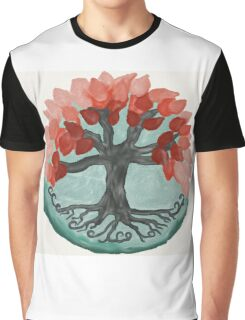 Lovely Autumn Tree Mandala Oil Painting Graphic T-Shirt