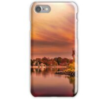 Sunset over Jamaica Pond iPhone Case/Skin