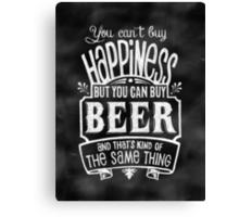 Beer Lover's Poster - Chalkboard Style Canvas Print