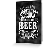 Beer Lover's Poster - Chalkboard Style Greeting Card