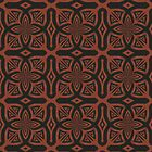 Fire Maze Tile by JBonnetteArt