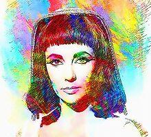 Elizabeth Taylor in Cleopatra by Art Cinema Gallery