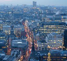 London at dusk by LCarmody