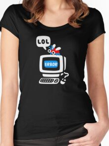 Computer Bug Women's Fitted Scoop T-Shirt