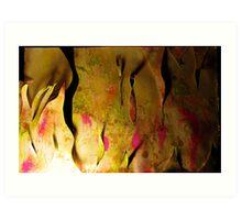 cutting a cave Art Print