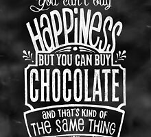 Chocolate Lover's Poster - Chalkboard Style by Rockinchalk