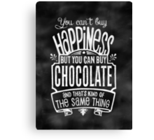 Chocolate Lover's Poster - Chalkboard Style Canvas Print