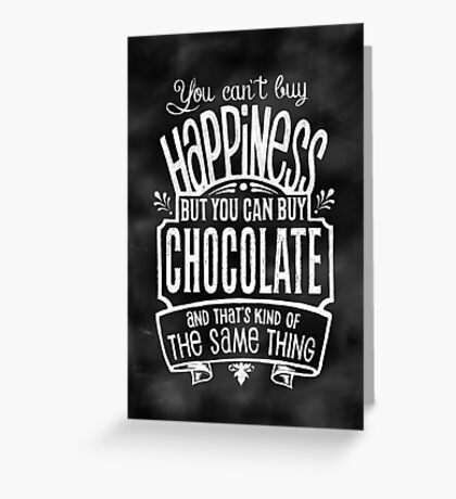 Chocolate Lover's Poster - Chalkboard Style Greeting Card