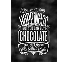 Chocolate Lover's Poster - Chalkboard Style Photographic Print