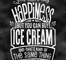 Ice Cream Lover's Poster - Chalkboard Style by Rockinchalk
