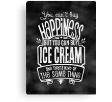 Ice Cream Lover's Poster - Chalkboard Style Canvas Print