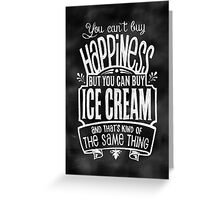 Ice Cream Lover's Poster - Chalkboard Style Greeting Card