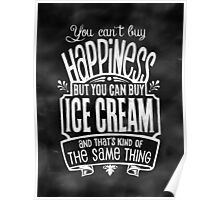 Ice Cream Lover's Poster - Chalkboard Style Poster