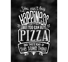 Pizza Lover's Poster - Chalkboard Style Photographic Print