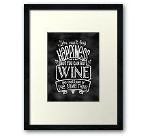 Wine Lover's Poster - Chalkboard Style Framed Print