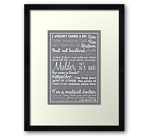 Dana Scully Quotes Framed Print