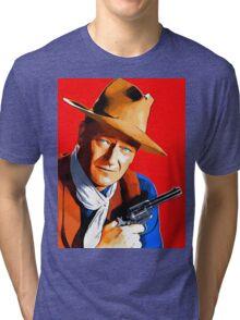 John Wayne in Rio Bravo Tri-blend T-Shirt