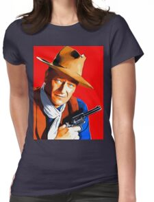 John Wayne in Rio Bravo Womens Fitted T-Shirt