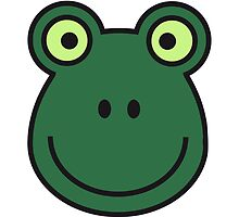 Cool Comic Frog Face Design by Style-O-Mat