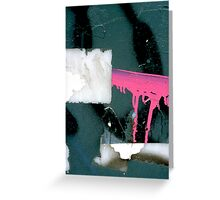 A CLOSER NY - PINK BARRICADE Greeting Card