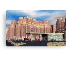 1950 Route 66 Gas Station Canvas Print