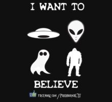 I Want to Believe Paranormal TV Version T-Shirt
