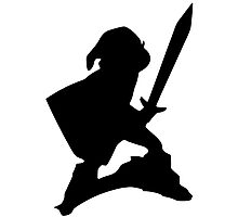 Link Silhouette Photographic Print