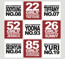 Girls Generation - Number Tee by MrAdrian