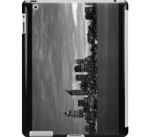 city skyline in black and white iPad Case/Skin