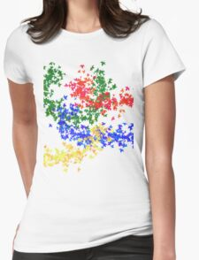 Foglie multi-color Womens Fitted T-Shirt