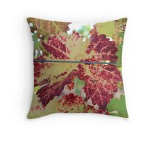 Colorful grape leaf Throw Pillow