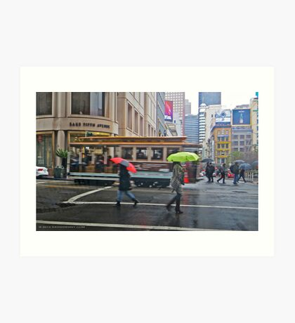 Powell Street in the Rain Art Print