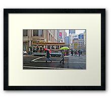 Powell Street in the Rain Framed Print