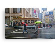 Powell Street in the Rain Canvas Print