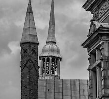 Lübeck Towers b/w by Mark Bangert