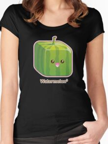 Cute Square Watermelon Women's Fitted Scoop T-Shirt